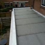 Gemineraliseerde App gebitumineerde dakbedekking met zinken deklijst.